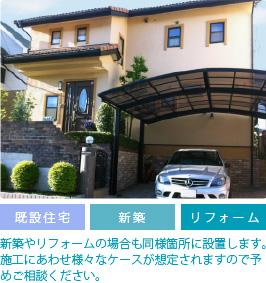戸建て住宅への設置